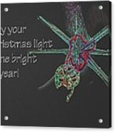 Christmas Star Light 26762 Ge Acrylic Print