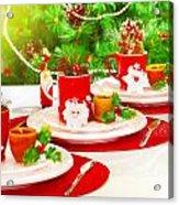 Christmas Table Setting Acrylic Print