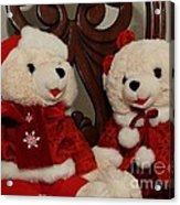Christmas Time Bears Acrylic Print