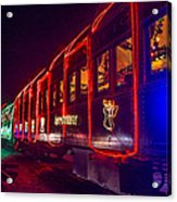 Christmas Train Acrylic Print