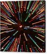 Christmas Tree At Warp Speed II Acrylic Print