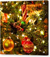 Christmas Tree Background Acrylic Print by Elena Elisseeva