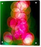 Christmas Tree Bokeh Background Acrylic Print