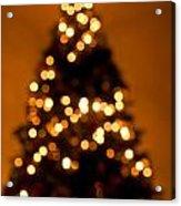 Christmas Tree Bokeh Acrylic Print
