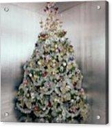 Christmas Tree Decorated By Gloria Vanderbilt Acrylic Print