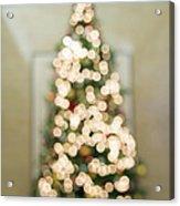 Christmas Tree Defocused With Bokeh Lights Acrylic Print