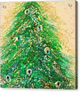 Christmas Tree Gold By Jrr Acrylic Print