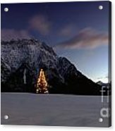 Christmas Tree In Front Of The Karwendel Acrylic Print