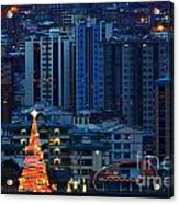 Christmas Tree In La Paz Acrylic Print