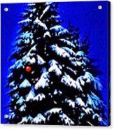 Christmas Tree With Red Ball Acrylic Print