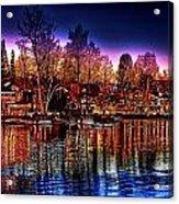 Christmas Twilight Acrylic Print by Cary Shapiro