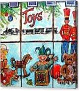 Christmas Window Acrylic Print by Linda Shackelford