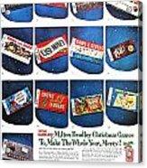 Christmas Wish List 1960 Acrylic Print