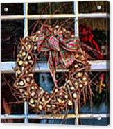 Christmas Wreath Acrylic Print by Darren Fisher