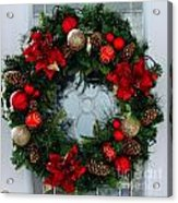 Christmas Wreath Greeting Card Acrylic Print