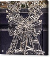 Christmas Wreath Ice Sculpture Acrylic Print
