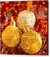 Christmasball Cupcakes In Red Acrylic Print