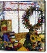 Christmastime Folk Art Fantasia Acrylic Print