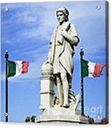 Christopher Columbus Baltimore  Statue Acrylic Print