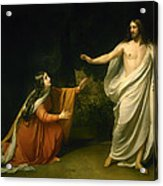 Christs Appearance To Mary Magdalene After The Resurrection Acrylic Print