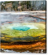 Chromatic Pool Yellowstone Acrylic Print by Pierre Leclerc Photography