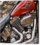 Chrome And Red Acrylic Print