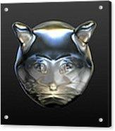Chrome Cat Acrylic Print