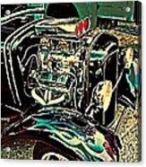 Chrome Engine Acrylic Print