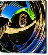 Chrome Hubcap Acrylic Print