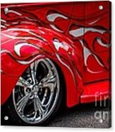 Chrome Red Acrylic Print