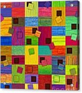 Chronic Tiling V2.0 Acrylic Print by David K Small