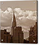 Chrysler Building And The New York City Skyline Acrylic Print