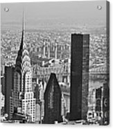 Chrysler Building New York Black And White Acrylic Print
