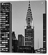 Chrysler Building New York City Bw Acrylic Print