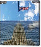 Chrysler Building Reflections Vertical 1 Acrylic Print
