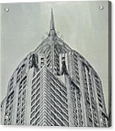 Chrysler Building Vintage Look Acrylic Print