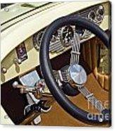 Chrysler Interior Steering Wheel Classic Car American Made Acrylic Print