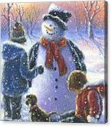 Chubby Snowman  Acrylic Print