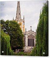 Church Across The River Acrylic Print by Trevor Wintle