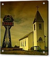 Church And Casino Those Two Angels  Acrylic Print