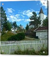 Church And Pickets Acrylic Print