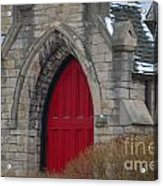 Church And The Red Door Acrylic Print