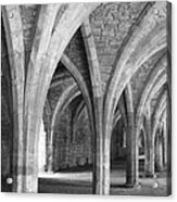 Church Archways In Black And White Acrylic Print