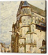 Church At Moret After The Rain Acrylic Print