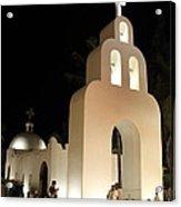 Church At Night In Playa Del Carmen Acrylic Print