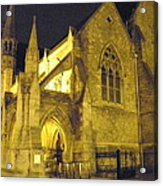 Church At Night Acrylic Print
