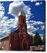Church At Puerto De Luna Nm Acrylic Print