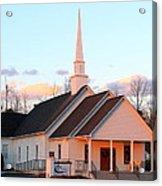 Church At Sunset Acrylic Print