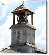 Church Bell Tower In Truchas In New Mexico Acrylic Print