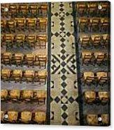 Church Chairs Acrylic Print